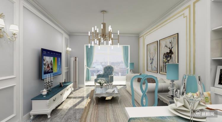 廣西南寧創凱空間裝飾-212平歐式三房裝修案例