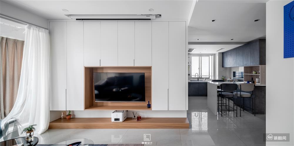 林阁全案|金帝海珀88㎡现代简约小户型也能有大大的空间感