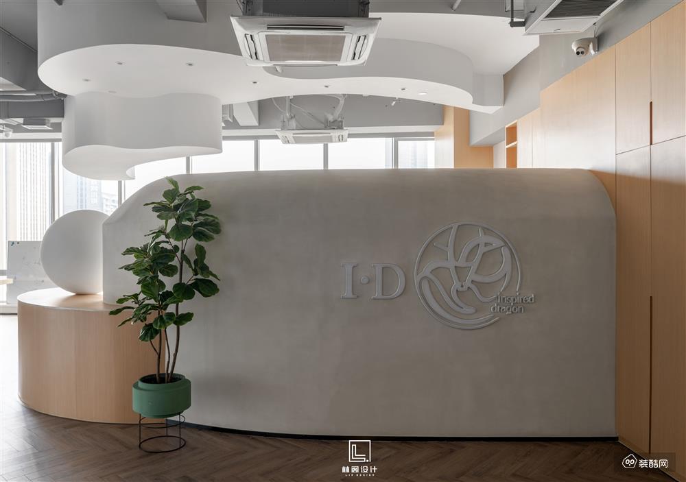 林阁全案|348㎡原木+水泥灰多维度办公空间