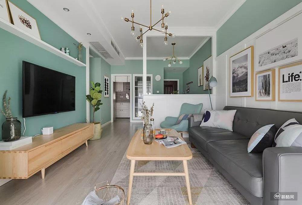湘潭北歐風格三居室105平裝修案例