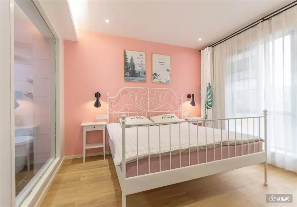 北欧风三居室,粉色的卧室,被宠成了小公主