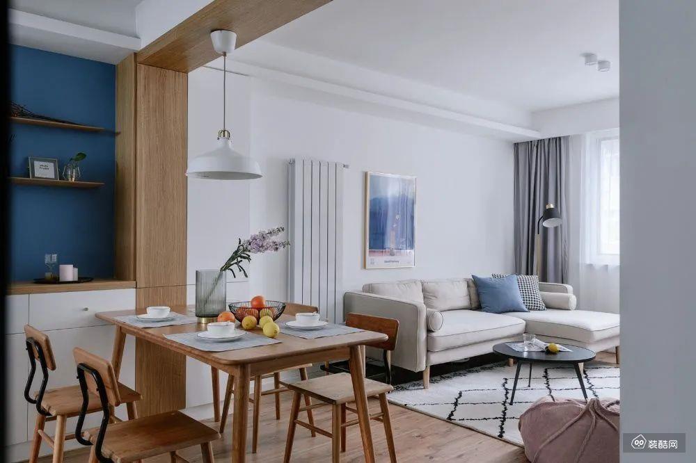 50m2小户型改造成简洁明亮两居室