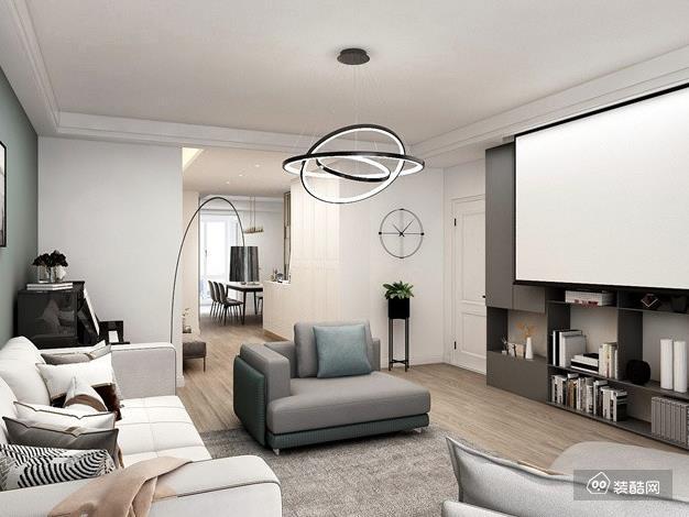 北京110平米北歐風格三室一廳裝修效果圖