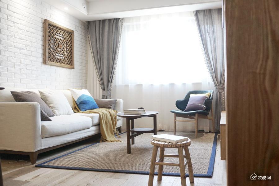達州81平新中式風格兩室一廳裝修效果圖——達州魯班裝飾