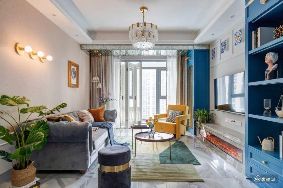 珠海匯創空間裝飾-97平現代混搭三室裝修效果圖