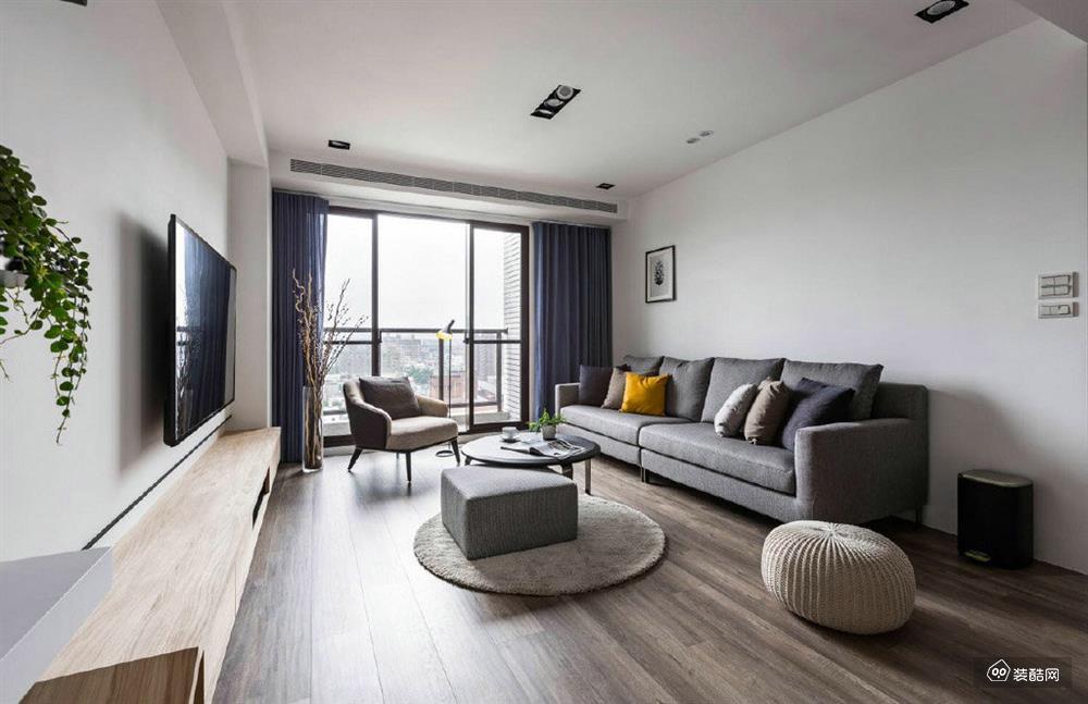 【大足南木裝飾】100平現代簡約三室裝修效果圖