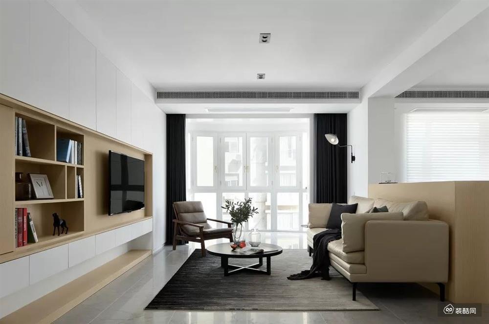 撫順大黎裝飾-萬達華宅112平米現代風裝修效果圖