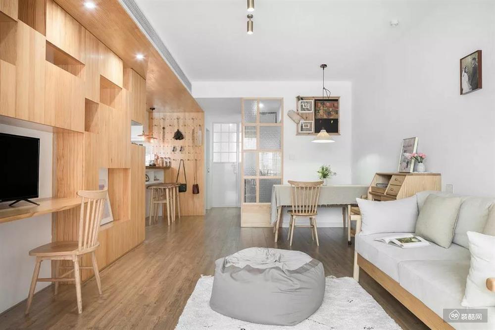 70平原木风小屋,简约清新,漂亮极了,这才是小户型的装修典范