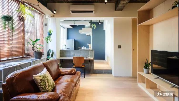 50平一居小户型,一进客厅就被惊艳了,卫生间实用又漂亮!