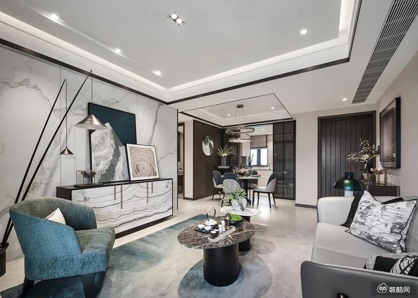 重庆150平米新中式风格四室两厅装修效果图