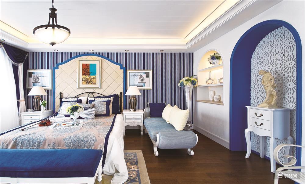 130平米地中海风格三室两厅装修效果图-名品章鱼直播间章鱼直播app官网