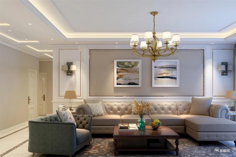 183平四室两厅简美式风格