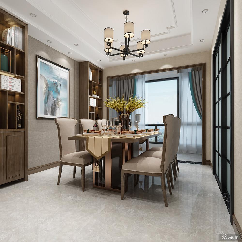150平新中式四居室装修案例