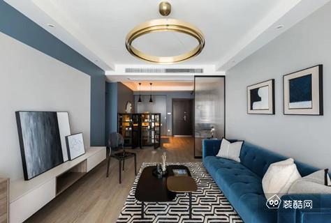 110㎡精装房改造,现代清爽的配色,搭配上简约舒适的家居,空