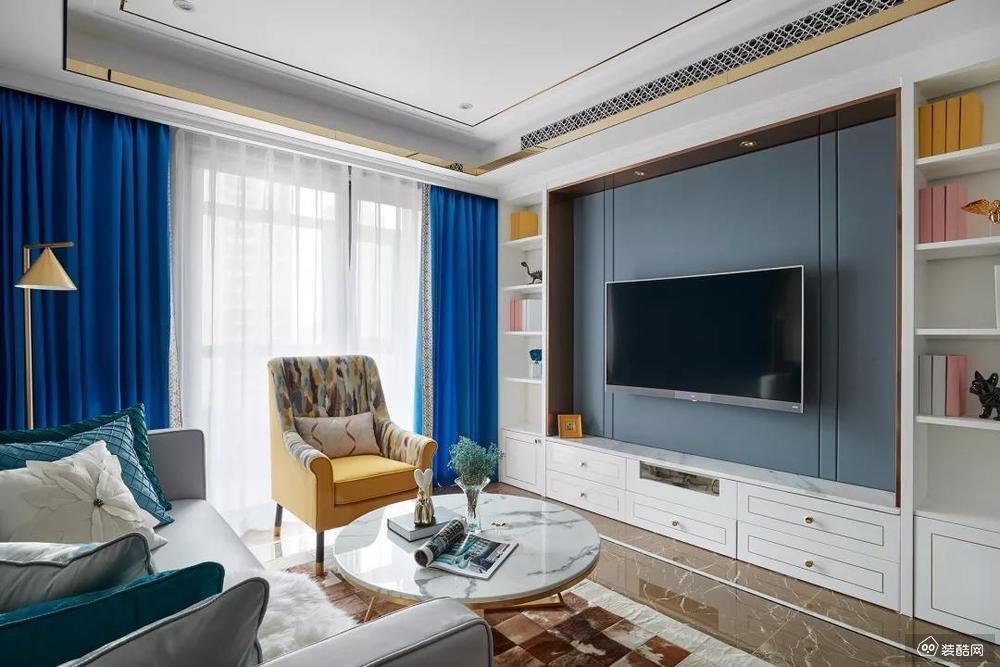 100㎡ 现代来两居室案例