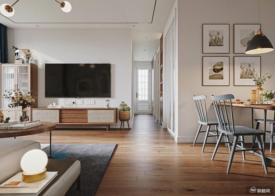 铜仁105平北欧风格三室一厅装修效果图