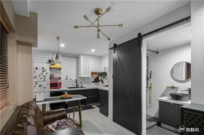 保山55平两居室现代装修效果图