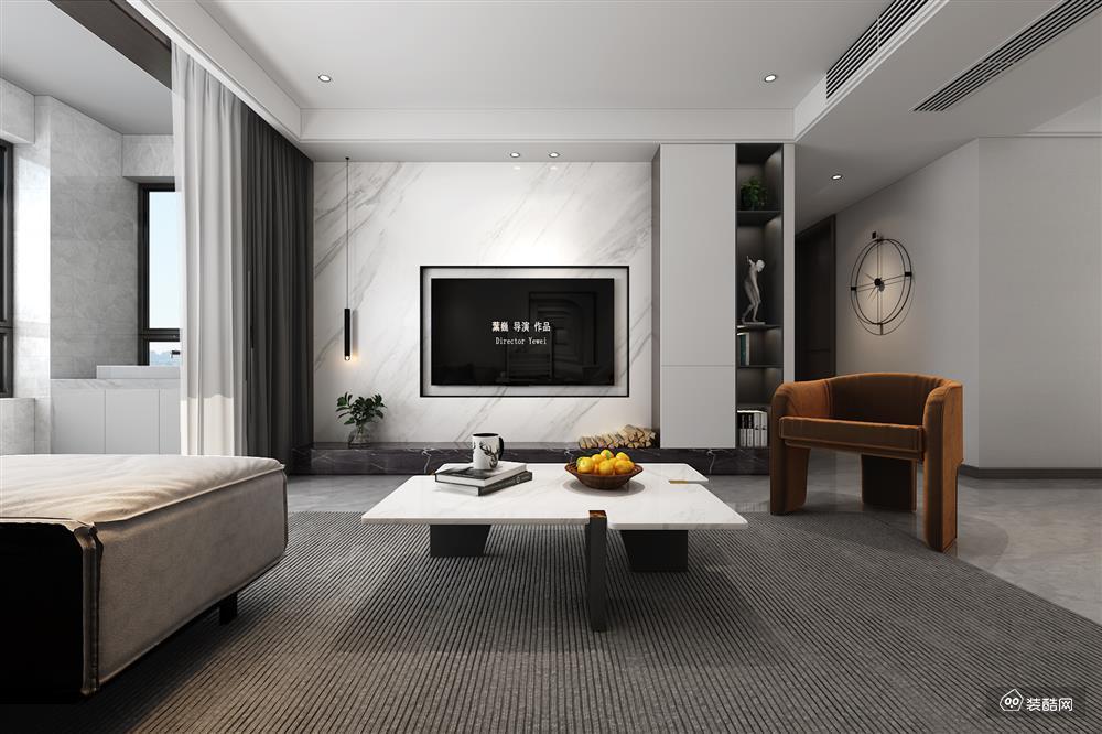 130平旧房改造,现代风格四居室