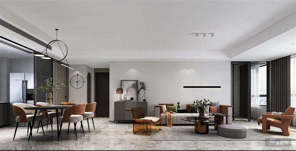 120平四室两厅轻奢风格装修,质感大气