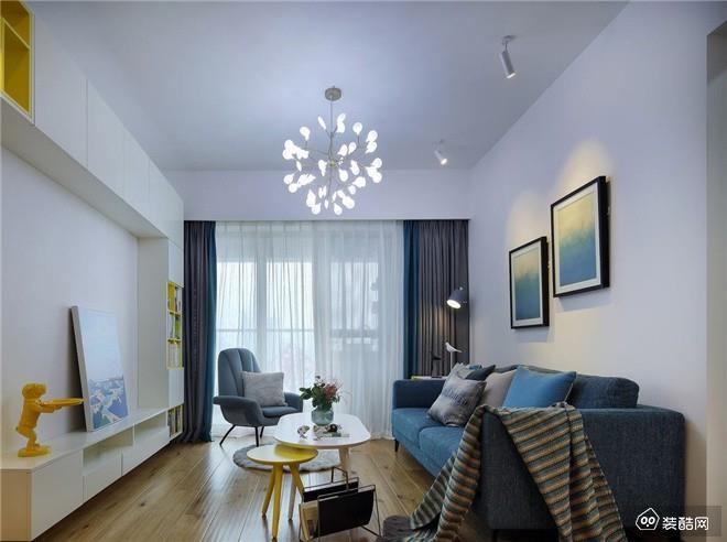 重庆95平米现代简约三室一厅装修效果图
