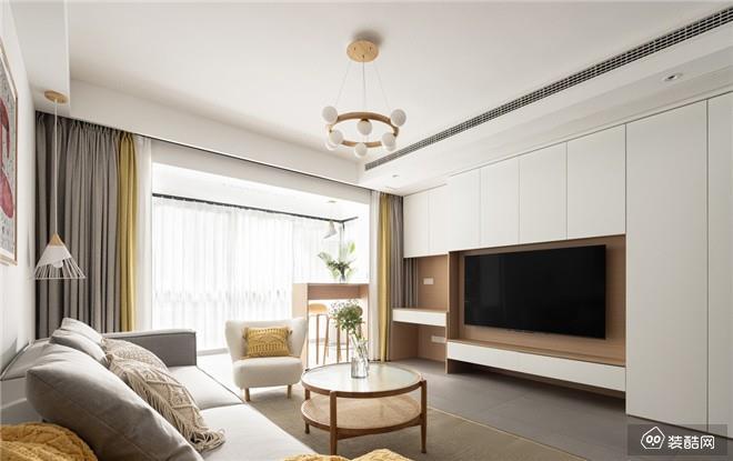 北京105平米现代简约三室一厅装修效果图