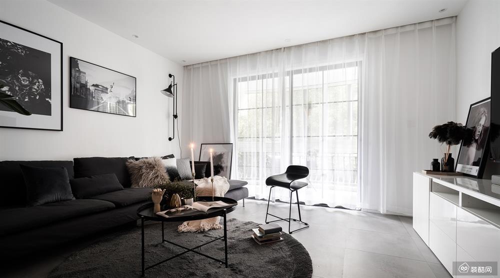 长春110平三室两厅现代风格装修效果图