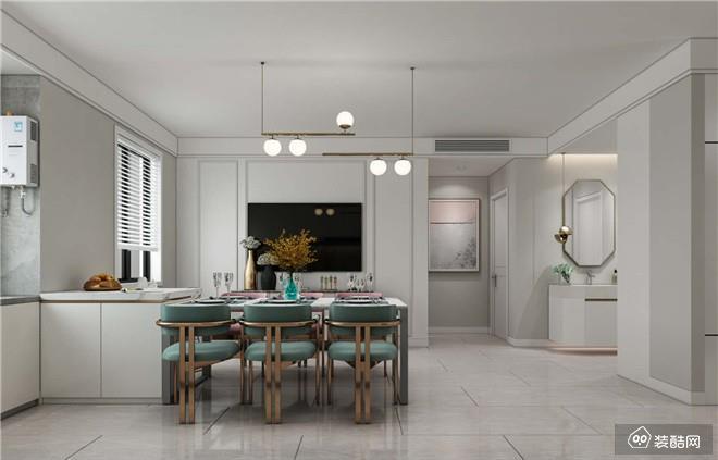 重庆150平米现代风格三室两厅两卫装修效果图