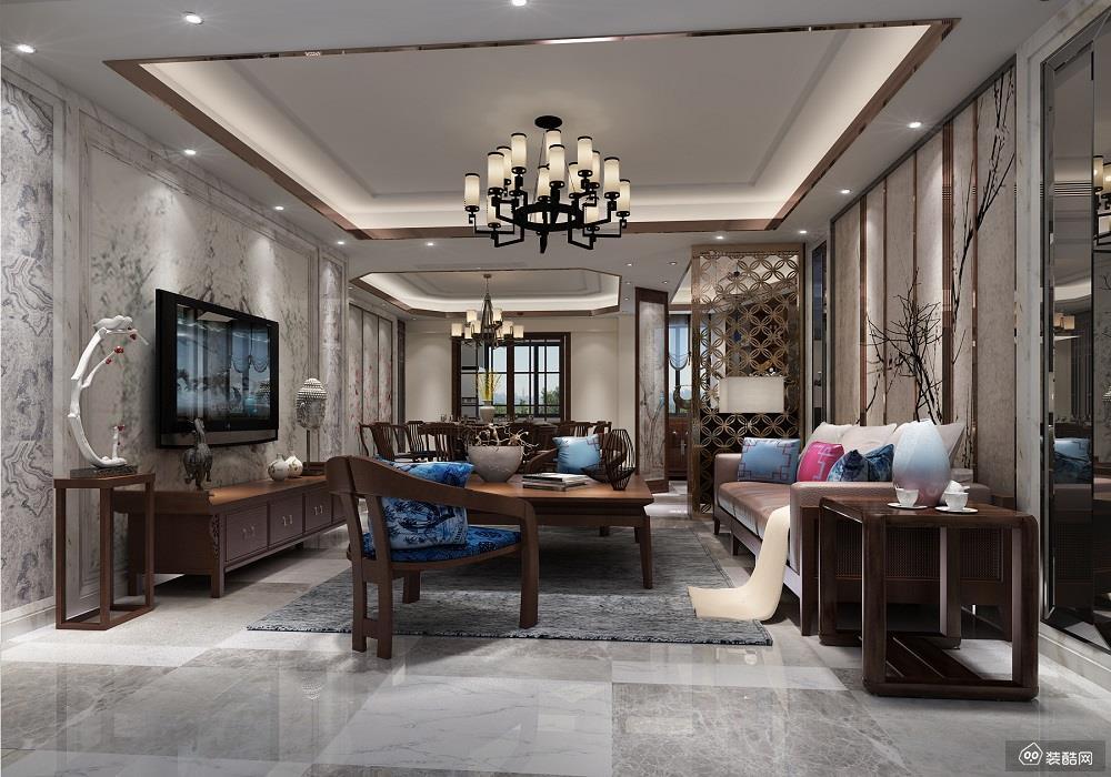 璧山中式三居室113平装修案例