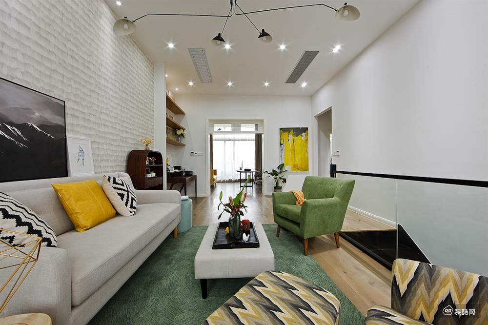 澜和湾-120平两居室北欧风格装修