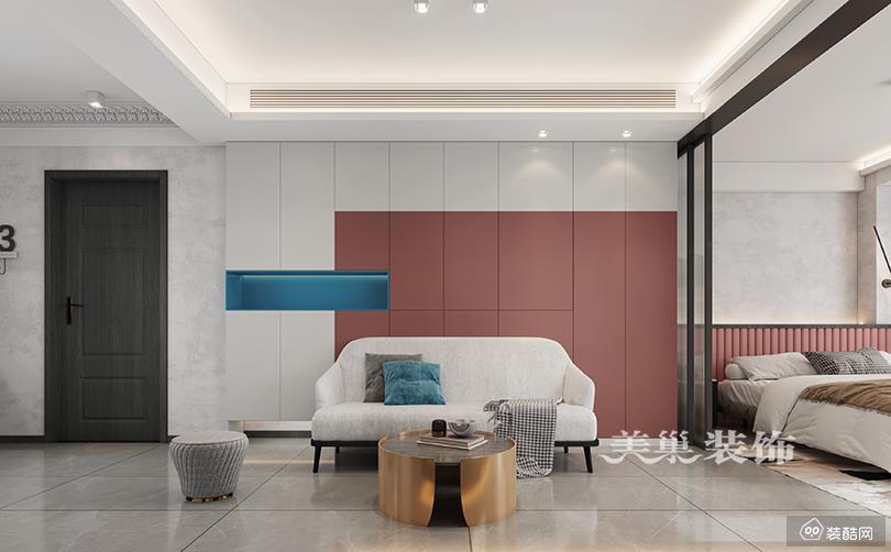 清华忆江南140平三室两厅轻奢风格装修效果图