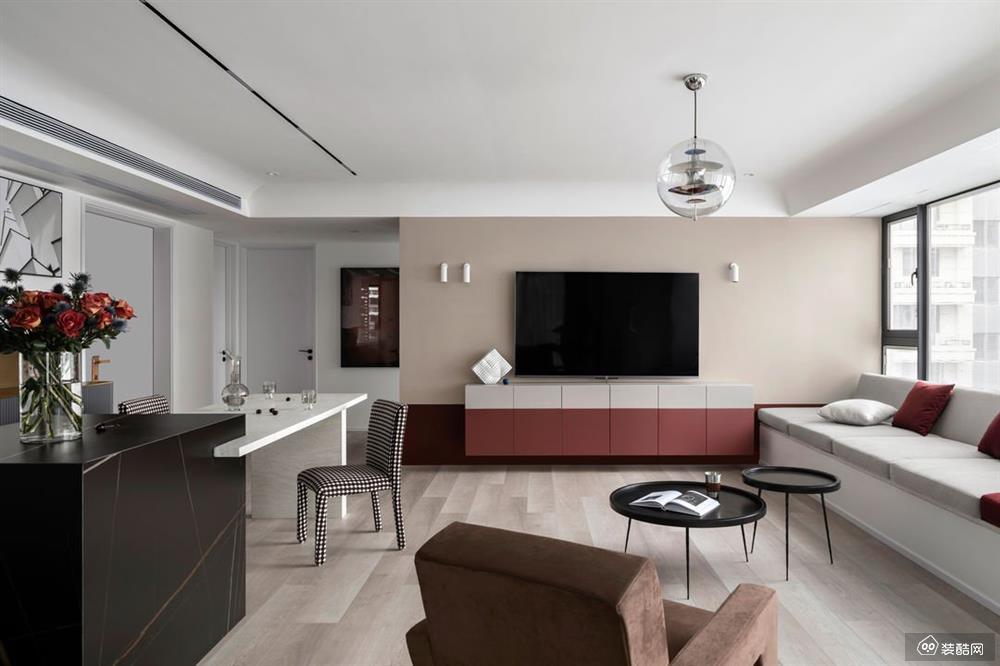 璧山北欧风格三居室110平装修案例