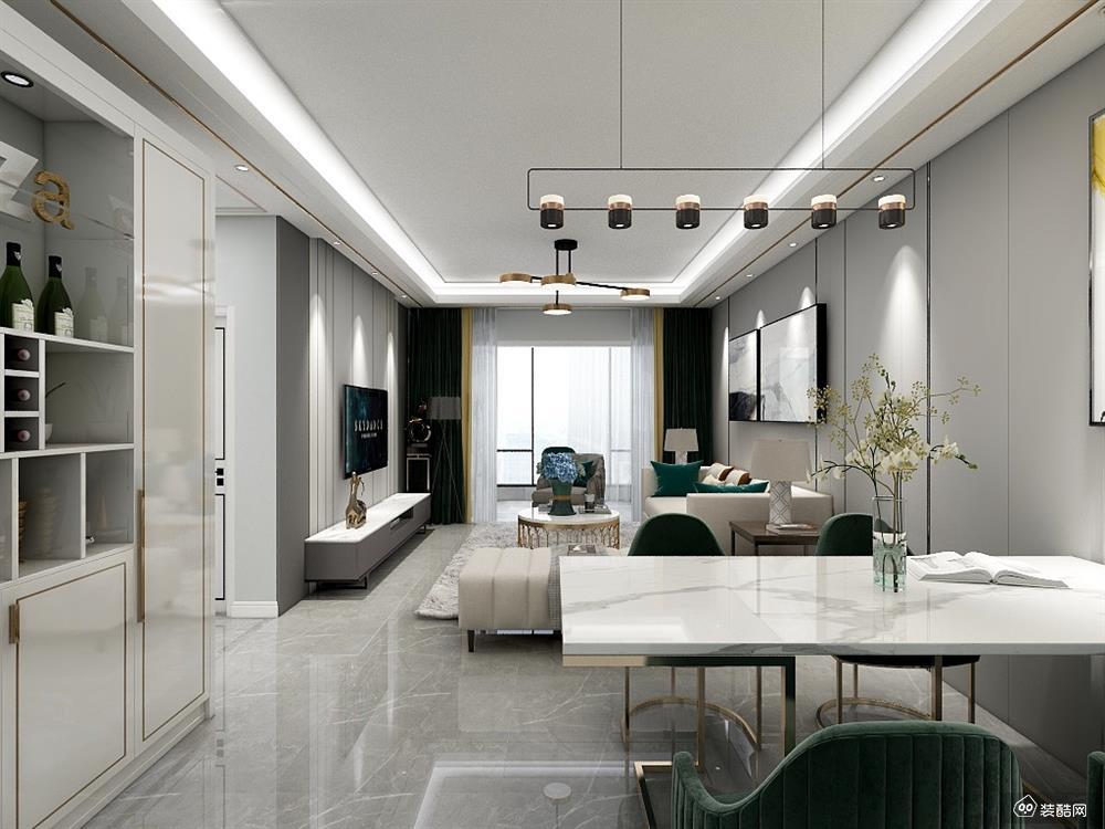 璧山现代风格四居室135平装修案例