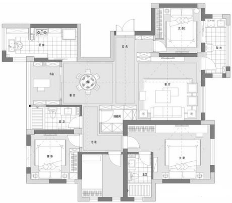 160平房子�b修�A算多少合�m?35�f��s北�W�L四居室�粜�D