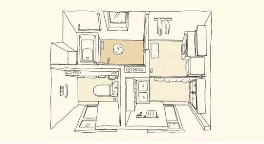 四分离卫生间设计
