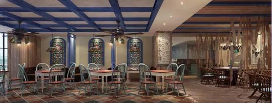 海盗餐厅就餐区设计