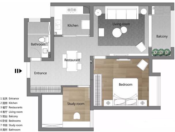 80平米小公寓打造成新中式混搭�L,�生活高雅又有趣味