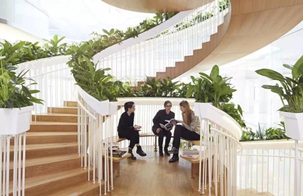 悬浮式-弧形旋转楼梯