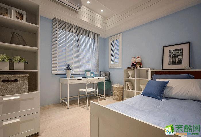 青岛120平三居室简约风格装修效果图