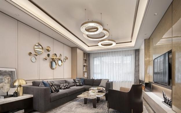 六盘水136平三室两厅现代简约风格装修效果图