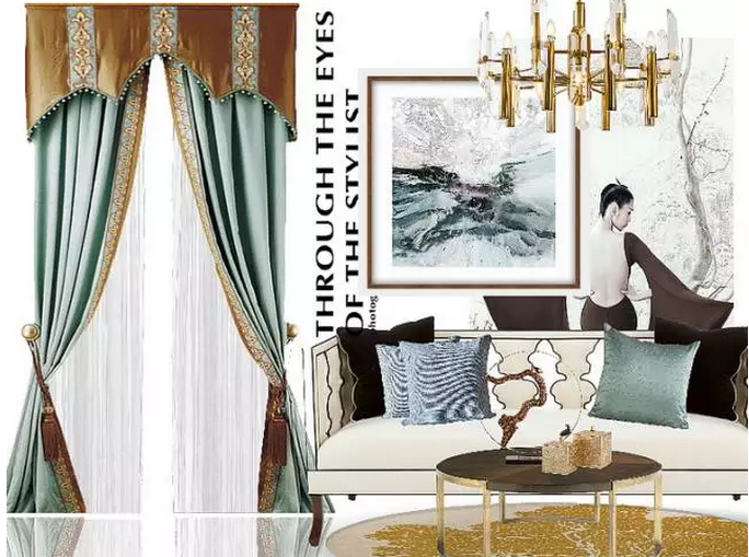 美式风格窗帘图片1