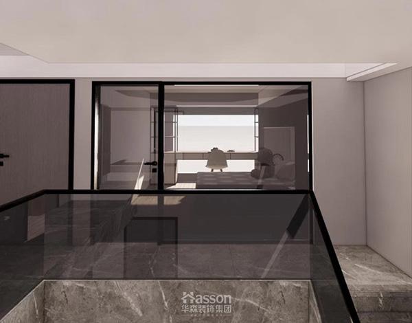 华森装饰集团|成都保利国宾160平米现代风格跃层装修效果图