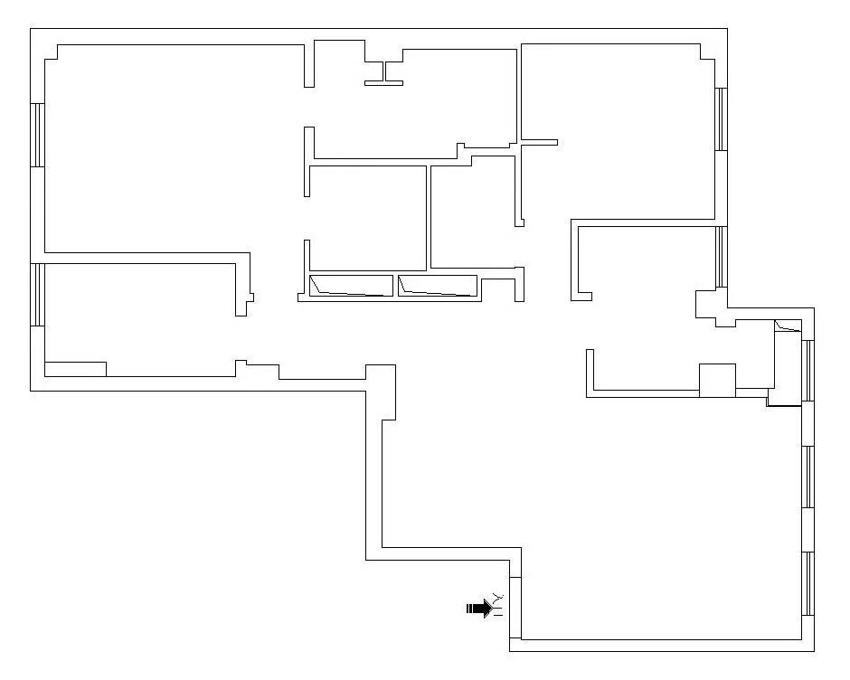 龙发 140㎡三室两厅只留主卧,其余全打通!设计很大胆!
