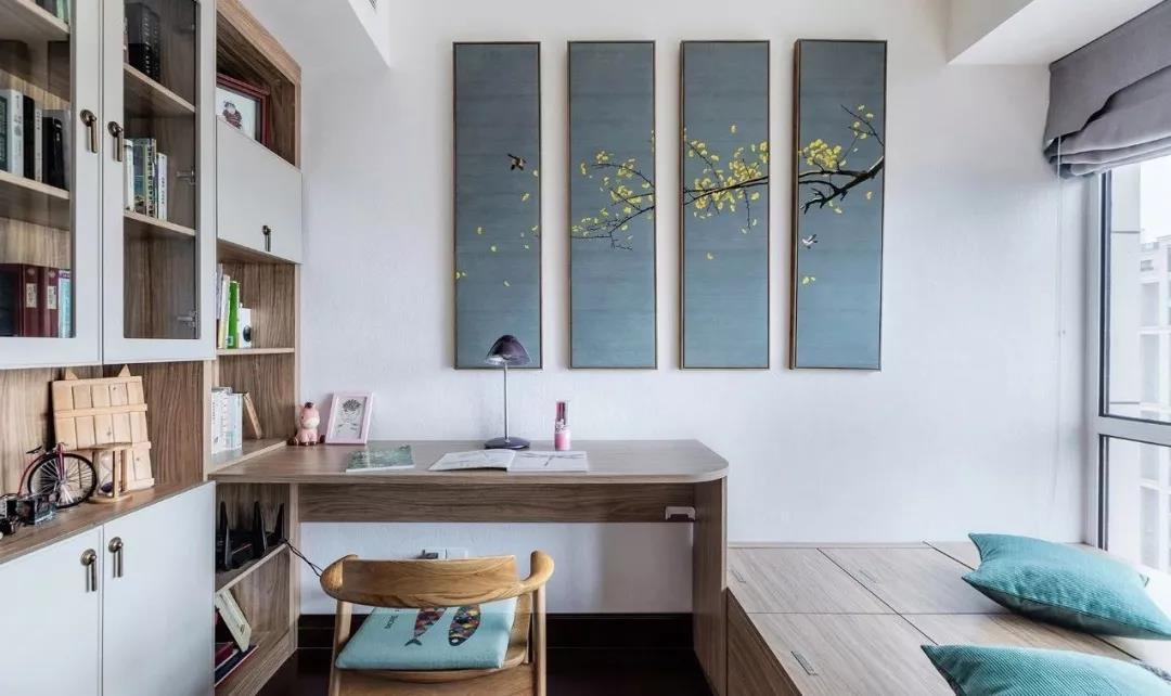 绿色家装饰 卧室放不下床头柜? 不是因为小,是因为你的想象力