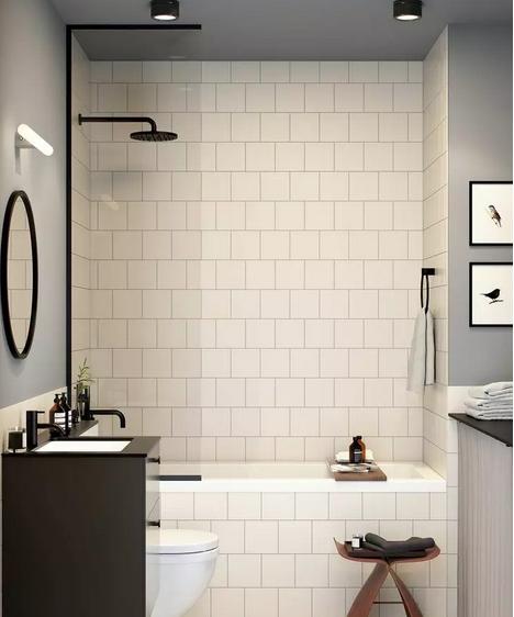 浴缸+淋浴屏