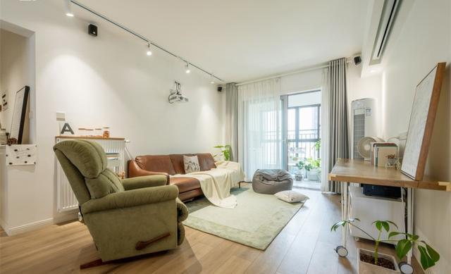 108平三居室北欧风装修,17万整装清新原木风
