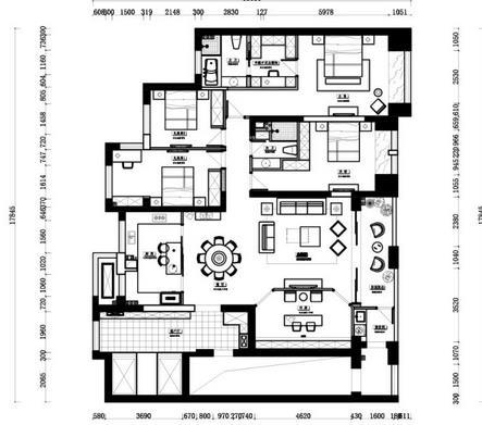 180平现代混搭风装修多少钱?70万打造经典现代大宅装修