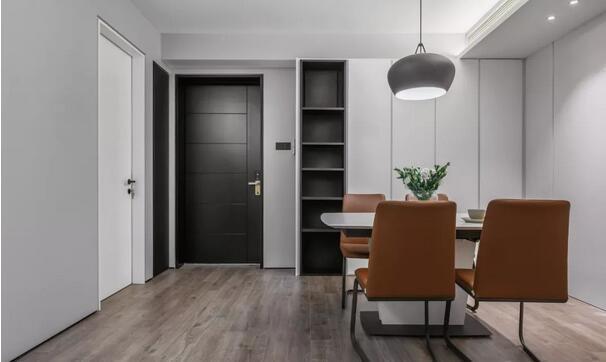 110平精装房改造成现代简约风,黑白灰也能超有气质