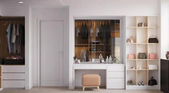 衣柜梳妆台一体化怎么设计更好?实用高颜值梳妆台设计推荐