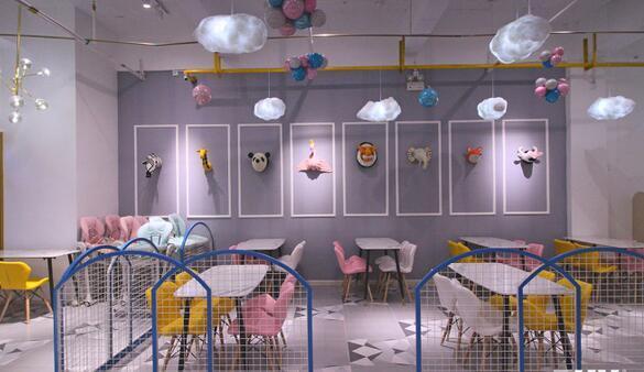 280平亲子餐厅装修多少钱?66万打造趣味亲子餐厅