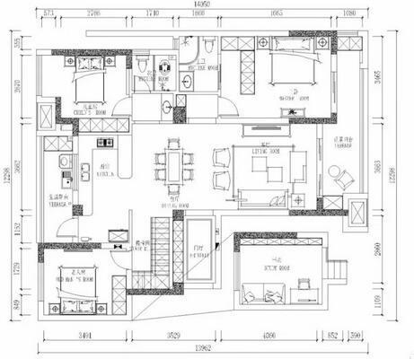 112平美式loft装修多少钱?30万精致美式loft装修样板间